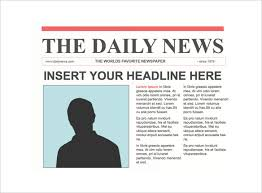 Custom Newspaper Template 12 Newspaper Front Page Templates Free Sample Example Format