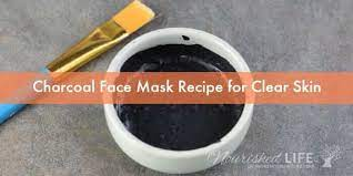 diy charcoal mask without glue for