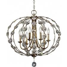 feiss leila 6 light large pendant chandelier in a burnished silver finish