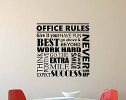 office wall pictures. Office Rules Wall Decal Work Hard Think Positive Quote Inspirational Lettering Vinyl Sticker Motivational Decor Poster Pictures C