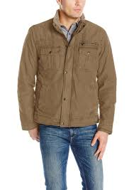 levi s men s washed cotton two pocket sherpa lined trucker jacket l