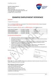 Employment Reference Letter For Visa Application Pdf Format E