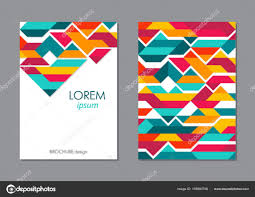 Design Folder Cover Colorful Geometricbusiness Brochure Leaflet Flyer Cover