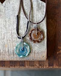 wire wrapped lampwork discs