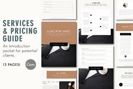 Pricing Template For Services Client Services Pricing Guide Template Services Packet