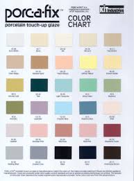 Sheffield Color Chart Porc A Fix Porcelain Repair Paint Kit