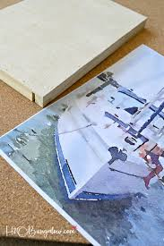 Easy DIY Photo Into Faux Canvas Print tutorial. Take any photo and make a  faux