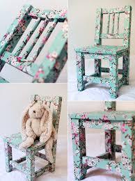 diy decoupage furniture. Decoupage-chair Diy Decoupage Furniture