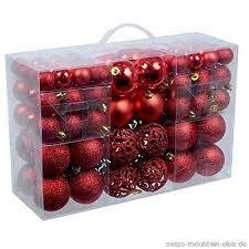 Weihnachtskugeln 100er Rot Silber Oder Gold
