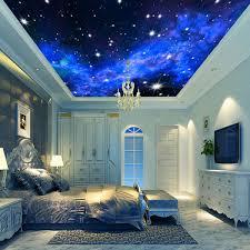 3d Ceiling Design Wallpaper 3d Wallpaper Mural Night Clouds Star Sky Wall Paper