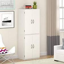 Image Walmart Amazoncom Gracelove Kitchen Pantry Storage Cabinet White Door Shelves Wood Organizer Furniture White Stipple