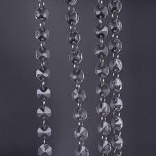 1m clear glass crystal bead garland chandelier hanging diy wedding light supply