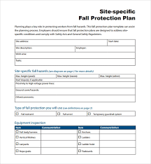 Site Plan Template Sample Fall Protection Plan Template 9 Free Documents In