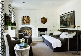 White Brick Wall  Interior Design IdeasWhite Brick Wall Living Room