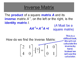 using matrices to solve a system of equations multiplicative