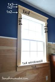 decorative crown molding exterior window trim ideas pvc window trim