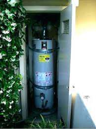 water heater enclosure outdoor plans electric tankless