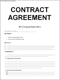 Contract Agreement Template Between Two Parties Interesting Agreement Format Sample Between Two Parties With