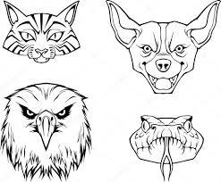 4 つの動物の顔 ストックベクター Apetruk 102843330