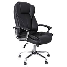 executive computer chair. SONGMICS Office Chair With High Back Large Seat And Tilt Function Executive Swivel Computer PU L