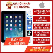 Máy tính bảng iPad 4 cũ Wifi 4G - Máy nguyên bản zin đẹp 99% - Pin trâu màn  to 9.7 inch sắc nét - Miễn phí cài ứng dụng
