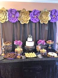 50th birthday favor ideas gold purple and black birthday party ideas concept of birthday party decoration