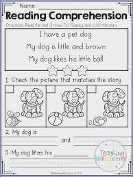 Kindergarten Reading Worksheets | Mychaume.com