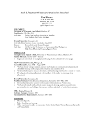 Sample Law School Resume Michael Resume