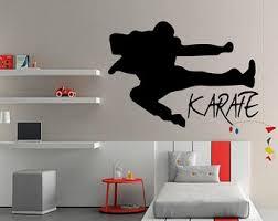 Karate Wall Decal - Karate Decal - Kids room Karate - Karate