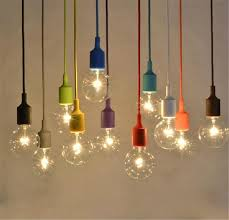 diy pendant lighting. modren lighting muuto pendent light multicolour silica gel lamp holder 11 colors pendant  diy lamps bulb bar restaurant with lighting