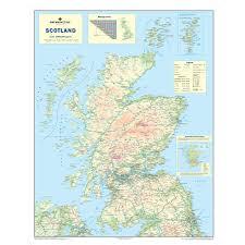 Amazon Com Scotland Road Map Wall Map Of Scotland