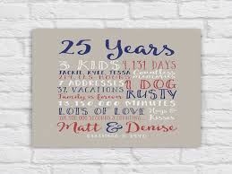 25th wedding anniversary gift paper canvas twenty fifth 10 25th wedding anniversary gifts for men