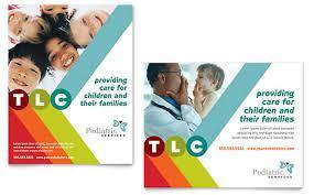 education poster templates pediatrician child care poster template design