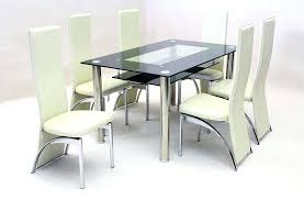 small round glass dining table modern smoked glass dining table with 6 high back dining chairs small round glass dining table