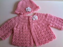 Free Crochet Baby Sweater Set Patterns
