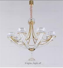 luxury czech crystal chandelier modern creative crown gold chorme