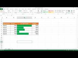 Create An In Cell Actual Versus Target Chart Youtube