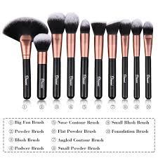 ovonni 24pcs superior soft cosmetic makeup brush tools kit set black brush roll ebay