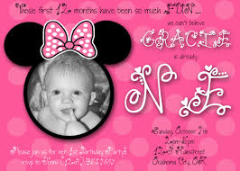 remarkable minnie mouse first birthday stunning 1st birthday minnie mouse invitations
