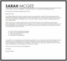 Cover Letter For Job Promotion Example Cover Letter Resume