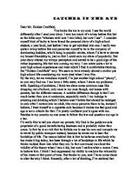 a letter to holden caulfield a level english marked by  page 1 zoom in
