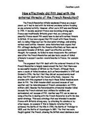 how well did pitt deal the radical threat a level history  how effectively did pitt deal the external threats