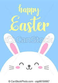 Easter Template Funny Cartoon Card With Hare Happy Easter Template For Design Print Vector Background In Doodle Style Cute Rabbit