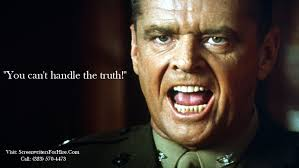 Movie quote for A Few Good Men You can't handle the truth Inspiration Short Movie Quotes
