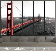on golden gate bridge metal wall art with bridges wall art at zellart canvas arts