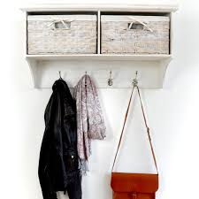 Wall Coat Rack With Baskets Home Furnitures Sets Wall Mount Coat Rack With Shelf Coat Rack 100