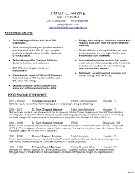 Resume Format For Technical Support Awesome Engineer Image
