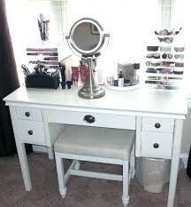 bedroom vanity table set furniture white makeup storage unit with leather bench modern va