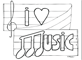Musical Instruments Coloring Pages Free Preschool Hamilton Music