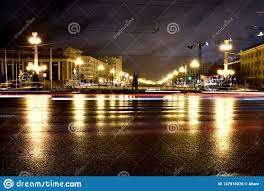 What Inspired Reflecting Road Lights To Be Invented Night City Landscape With Car Lights Made With Long Exposure